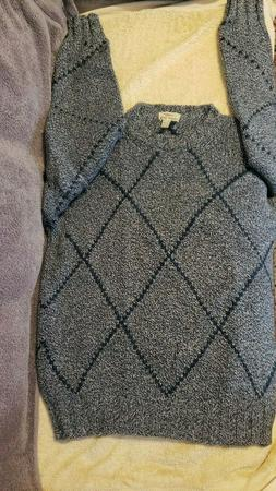 Malo 100% Cashmere 4 Ply Thick Argyle Sweater Size 50 M Ital