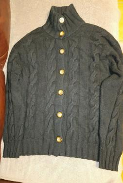 Hawick 100% Cashmere Heavy Thick 4 Ply Cable Knit Cardigan 5