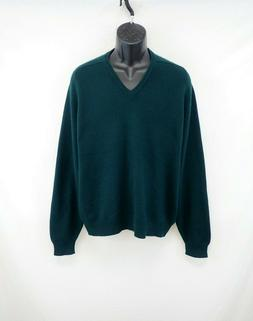 Brooks Brothers 100%Pure Cashmere V-Neck Sweater Made in Gre