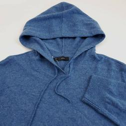 $345 ONIA Cashmere Sweater Hoodie Men's Size XL Blue Palm Tr