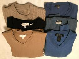 6 Cashmere, Wool Blend Mens Sweaters for Upcycle-Various siz