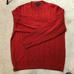 Brooks Brooks 100% Cashmere 4 Ply Chunky Thick Cable Knit Cr