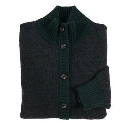 Luciano Barbera Buttoned Cardigan Cashmere Sweater with Sued