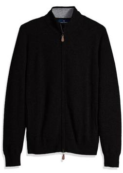 BUTTONED DOWN Men's 100% Cashmere Full-Zip Sweater Black S
