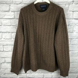 Davis & Squire 100% 2 Ply Cashmere Sweater LARGE L Brown Cab