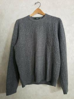 J Crew Crewneck Sweater Lambswool Cashmere 90/10%  Cable Kni