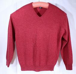 Jos. A Bank Red Cashmere V-Neck Men's Sweater Size L Small H