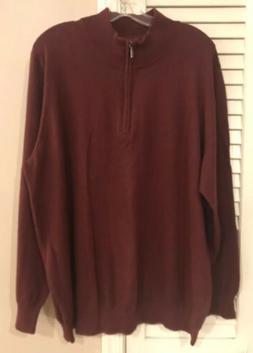 LL Bean Men's Burgundy Sweater With Cashmere Size 2X
