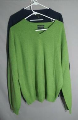 Lot of 2 Club Room Mens luxury cashmere sweater mens large l