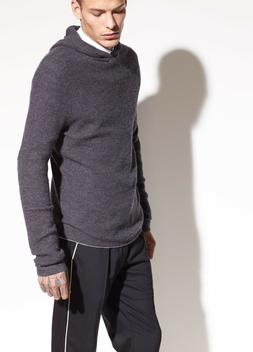 M172 NWT VINCE 100% CASHMERE WAFFLE PULLOVER MEN HOODIE SWEA