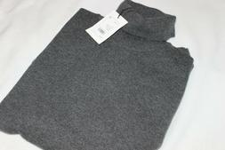 Theory Men's 100% Cashmere Charcoal Grey Turtleneck Sweater