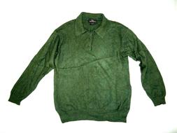 CLUB ROOM Men's 100% Cashmere SWEATER 2 ply Green
