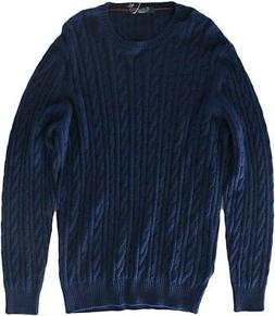 LORO PIANA MEN'S BLUE BABY CASHMERE CABLE KNIT SWEATER SIZE