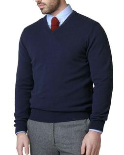 Bloomingdales Mens 2-Ply Cashmere V-Neck Sweater True XXL Tr