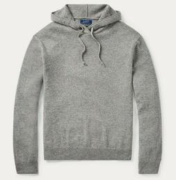 Polo Ralph Lauren Mens Grey Heather Washable Cashmere Hooded