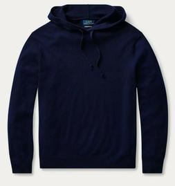 Polo Ralph Lauren Mens Hunter Navy Washable Cashmere Hooded