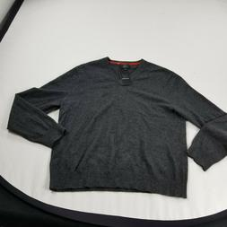 Qi Mens sweater gray XL pullover cashmere  long sleeve d m