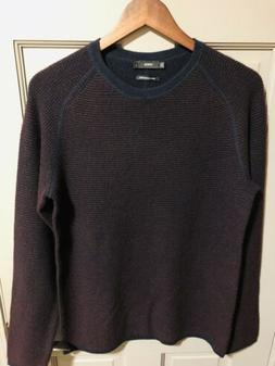 Men's VINCE. Waffle Knit Cashmere Sweater In Navy Stripe S