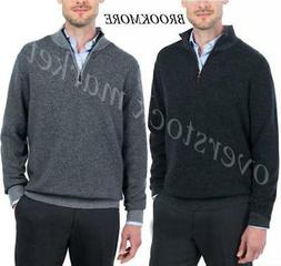 NEW! MENS BROOKMORE 1/4 ZIP CASHMERE SWEATER! 100% CASHMERE!