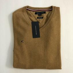 NEW Tommy Hilfiger Solid V-Neck Sweater XS MENS Pima Cotton