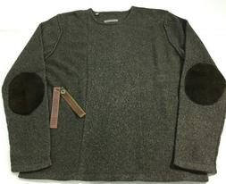 NWT Robert Comstock Pure Cashmere Sweater W/Shearling Patche