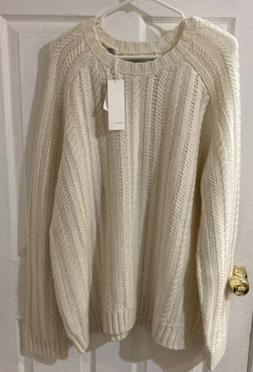 VINCE WOOL CASHMERE SWEATER MEN XL BRAND NEW NWT XMAS CREAM